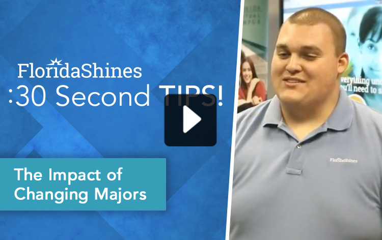 FloridaShines 30 Second Tip - The Impact of Changing Majors Video Thumbnail